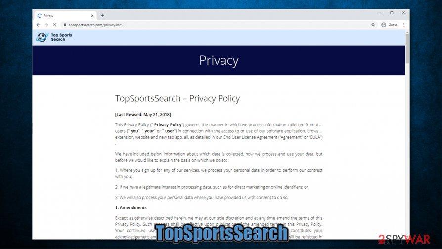 TopSportsSearch virus