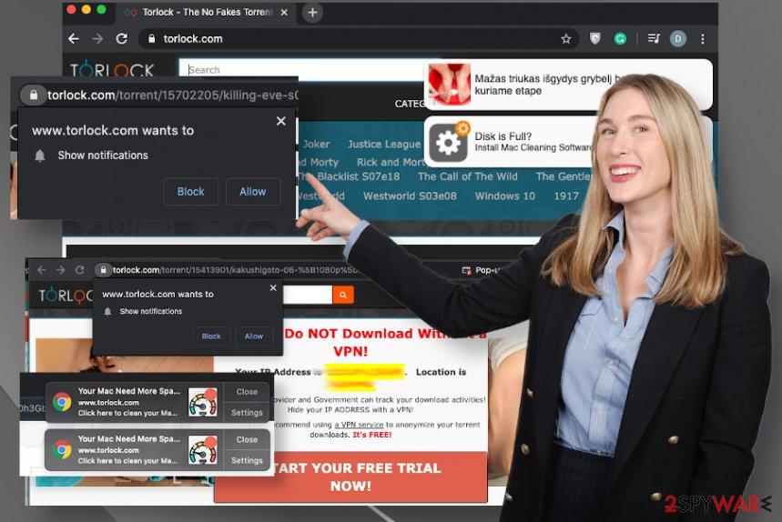 Torlock.com ads