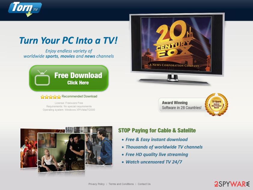 TornTV malware snapshot