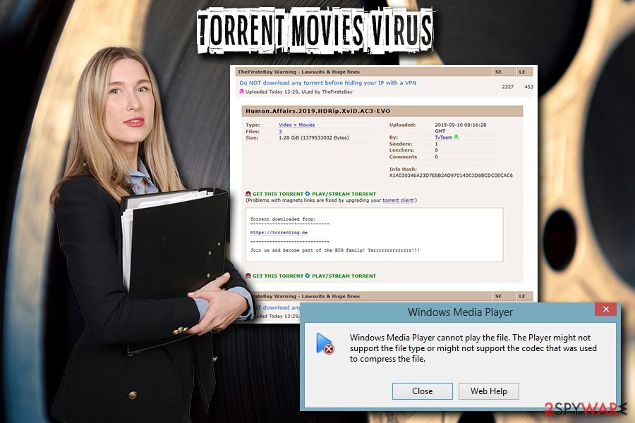 Torrent Movies virus Trojan