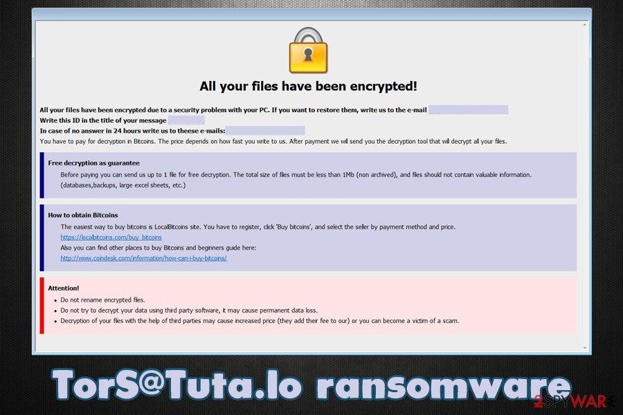 TorS@Tuta.Io ransomware