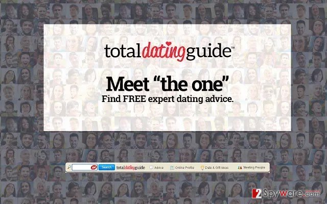 The picture showing Total Dating guide toolbar