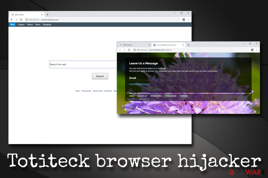 Totiteck browser hijacker