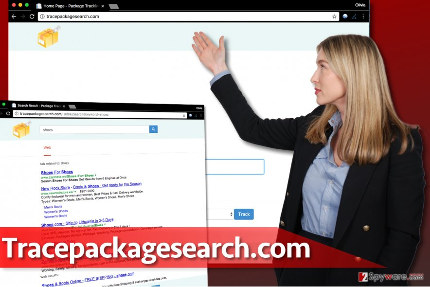 Tracepackagesearch.com virus