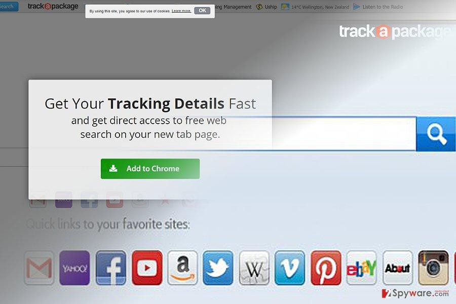 TrackAPackage Toolbar