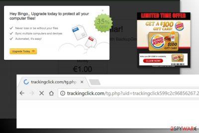 The example of Trackingclick.com ads