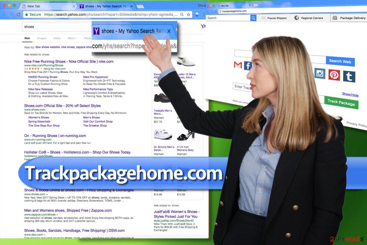 Trackpackagehome.com hijack