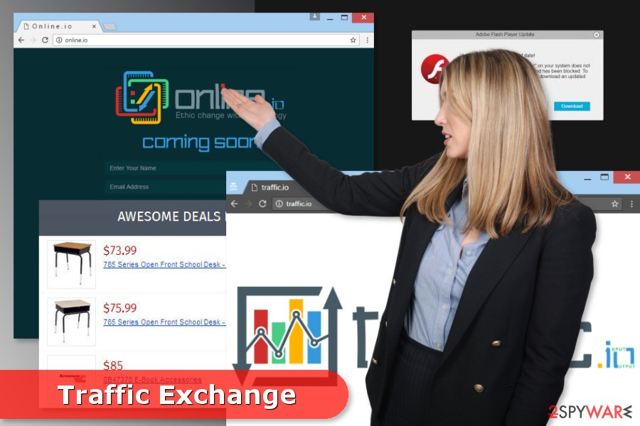 Illustration of Traffic Exchange adware