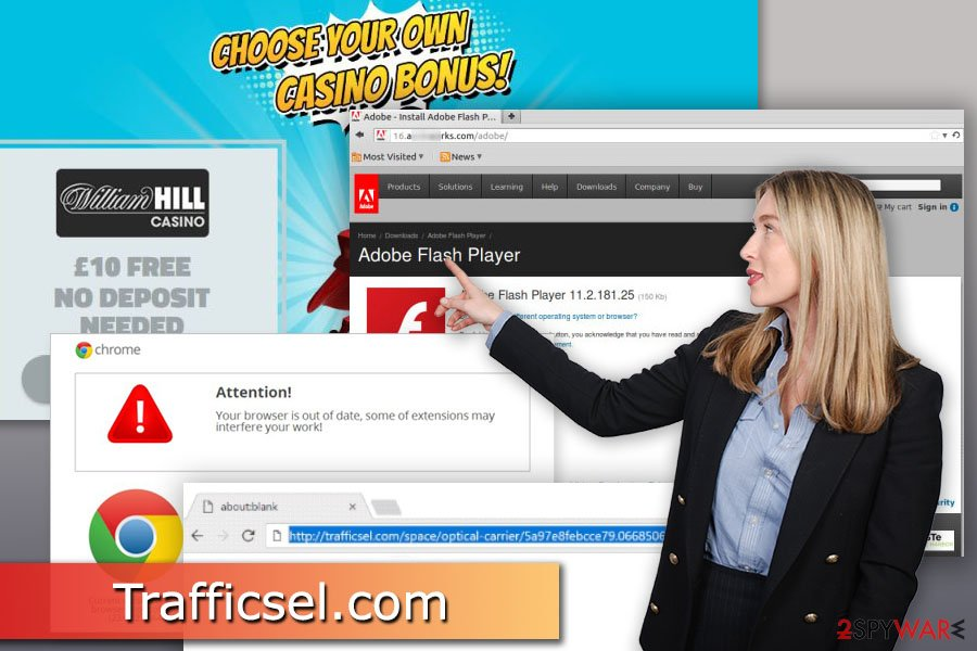 Image of Trafficsel.com virus
