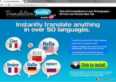TranslationBuddy Toolbar