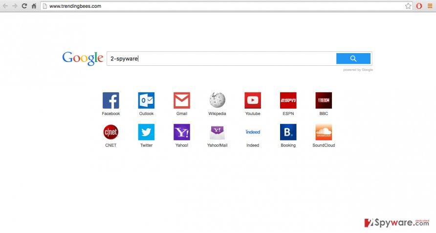 A screenshot of the trendingbees.com website