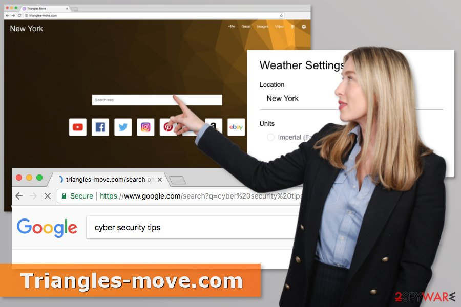 Example of Triangles-move.com virus