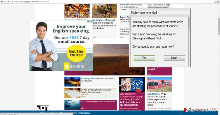 The screenshot of Ads by TribalAd PPC Ad Network