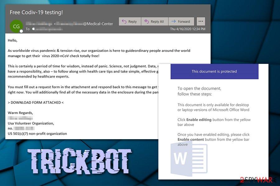 TrickBot Covid-19 phishing