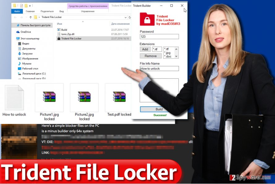 Trident File Locker ransomware