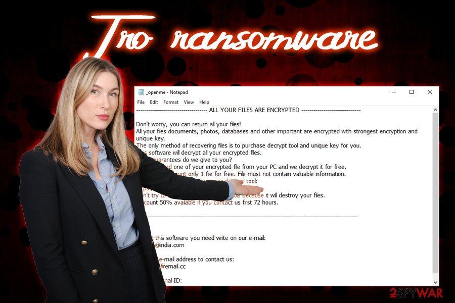 .Tro ransomware virus