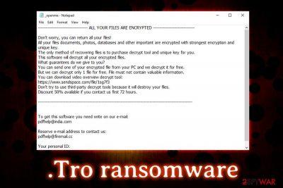 .Tro ransomware