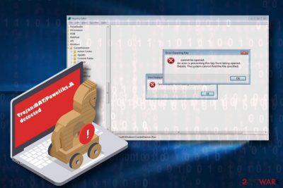 Trojan:BAT/Poweliks.A is a detection of a Trojan Horse