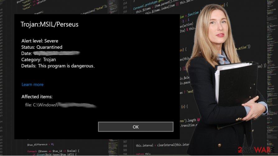 TrojanDropper:MSIL/Perseus!rfn virus