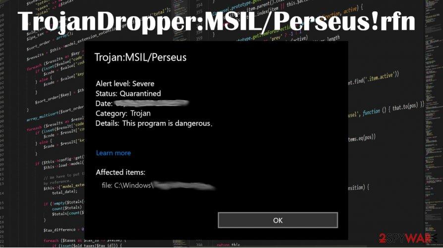 TrojanDropper:MSIL/Perseus!rfn