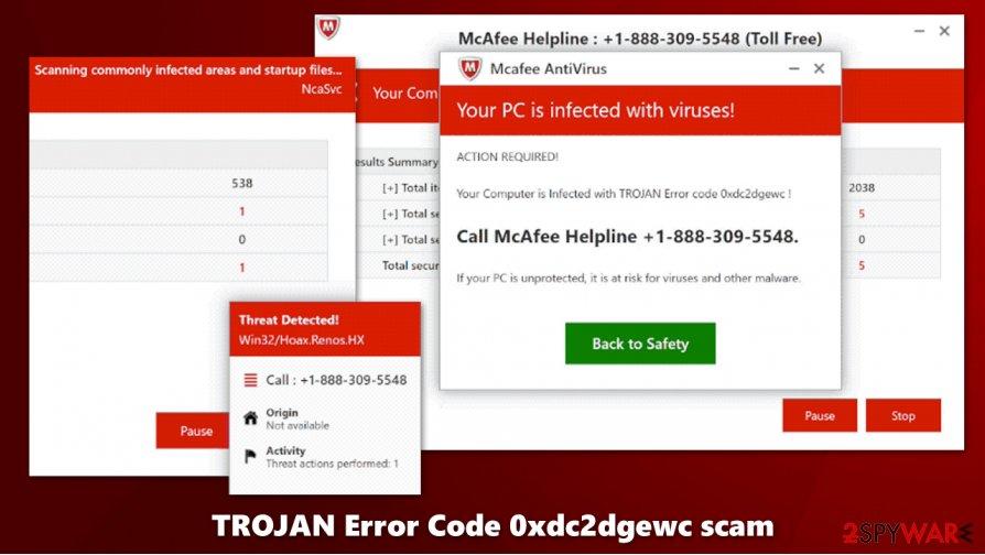 TROJAN Error Code 0xdc2dgewc virus scam