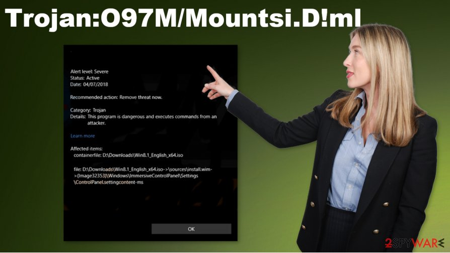 Trojan:O97M/Mountsi.D!ml virus
