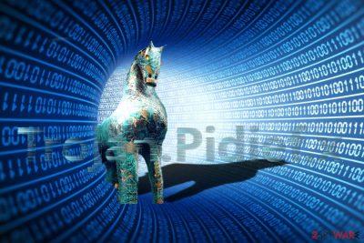 The picture illustrating Trojan.Pidief.x