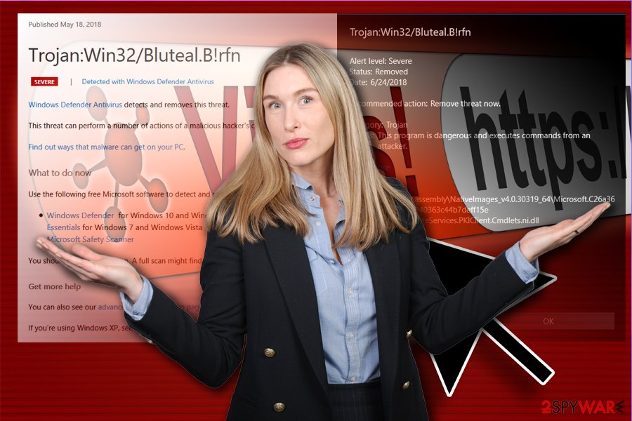 Trojan:Win32/Bluteal.B!rfn malware