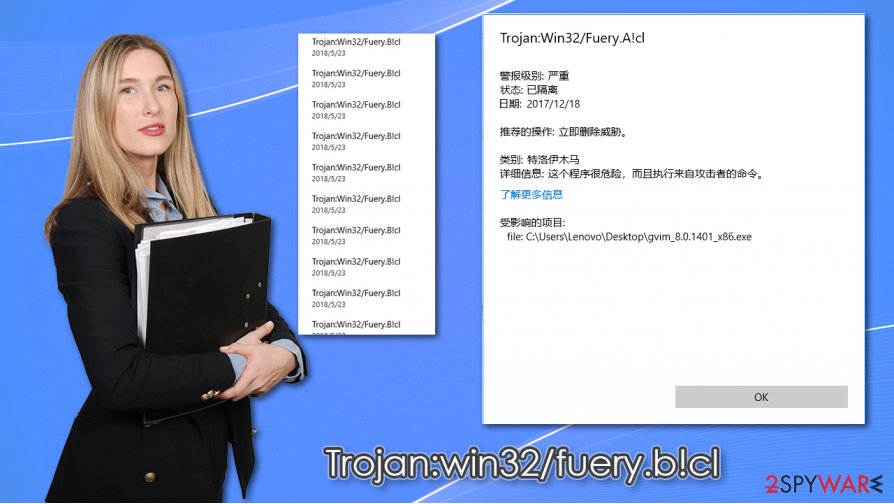 Trojan:win32/fuery.b!cl virus
