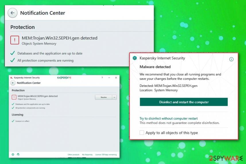 Trojan.Win32.SEPEH.gen detection