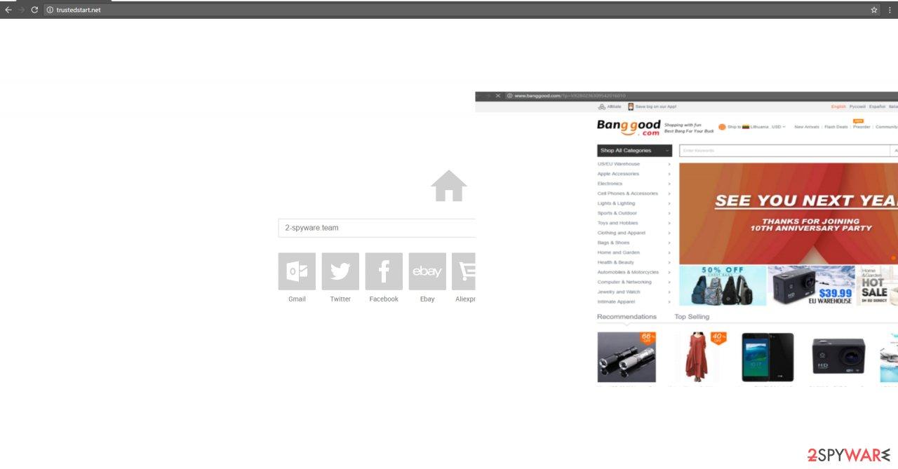 The image showing trustedstart.net virus