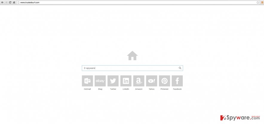 Trustedsurf.com virus website example