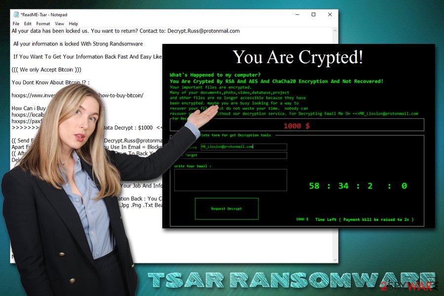 Tsar ransomware virus
