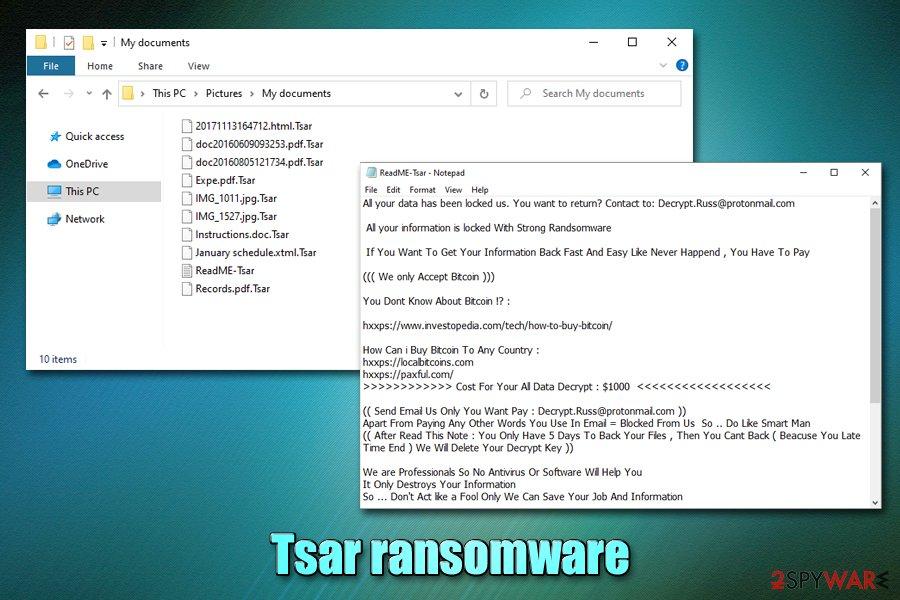 Tsar ransomware