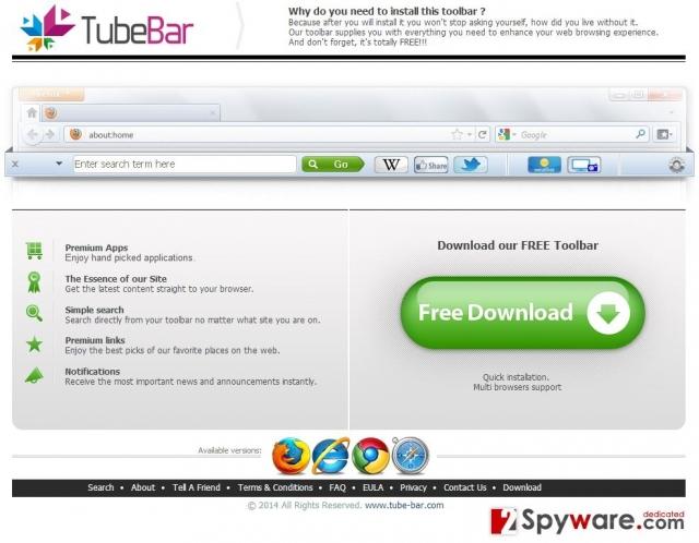 TubeBar virus snapshot