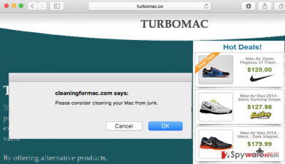 The official site of TurboMac virus