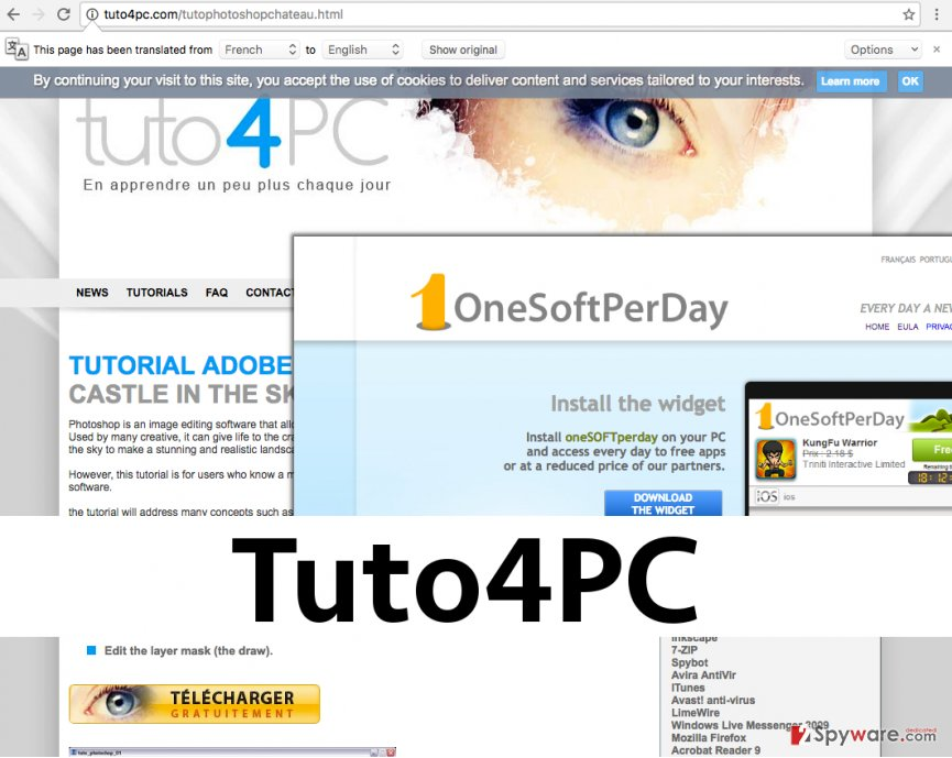 Screenshot of Tuto4PC site
