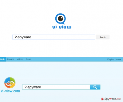 Two examples of Vi-View.com browser hijacker virus