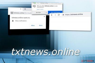 Txtnews.online adware