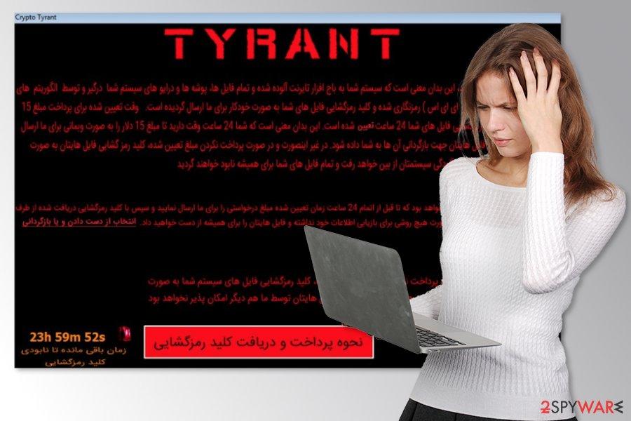 Tyrant ransomware virus attack