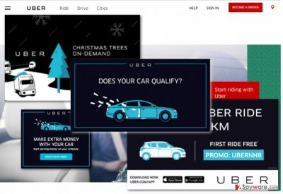 Illustration of Uber ads