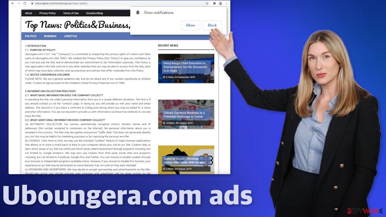 Uboungera.com ads