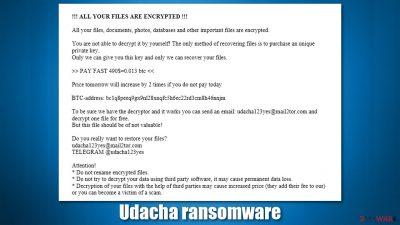 Udacha ransomware