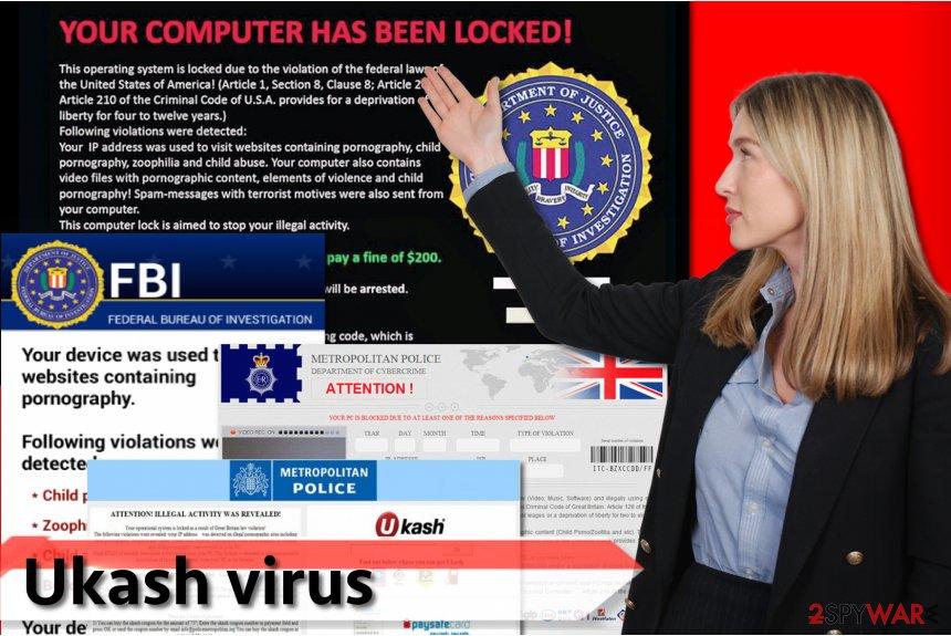 Examples of Ukash virus