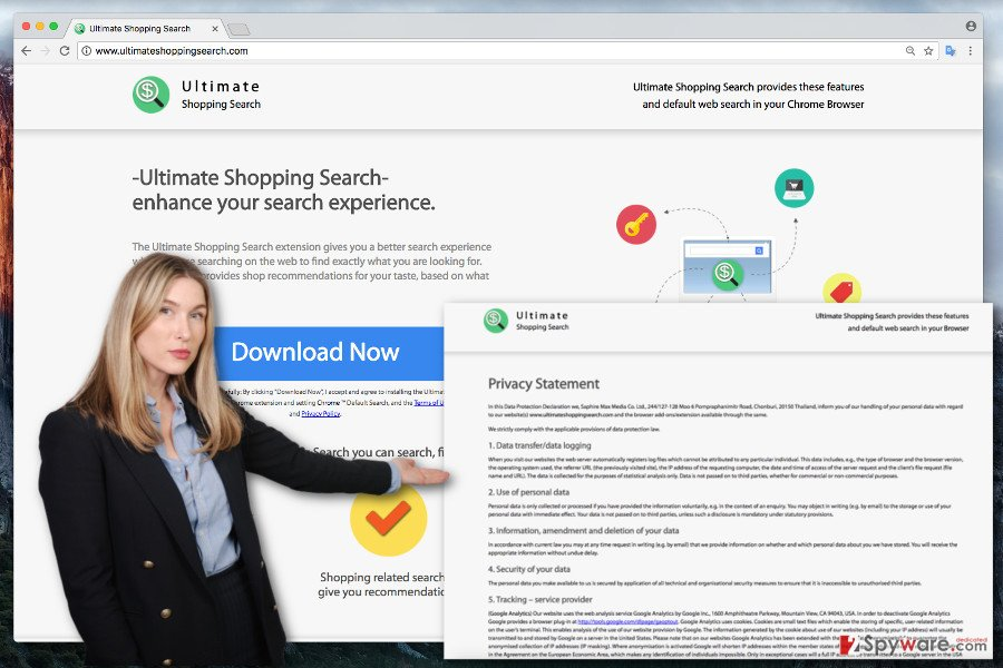 The picture of Ultimate Shopping Search virus