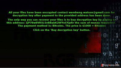 UltraLocker virus encodes your files