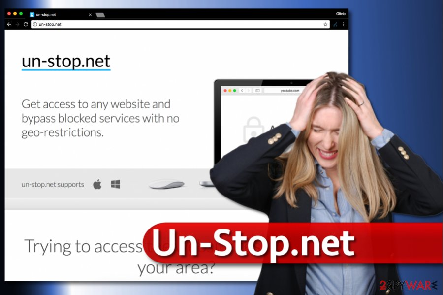 Un-Stop.net redirect virus