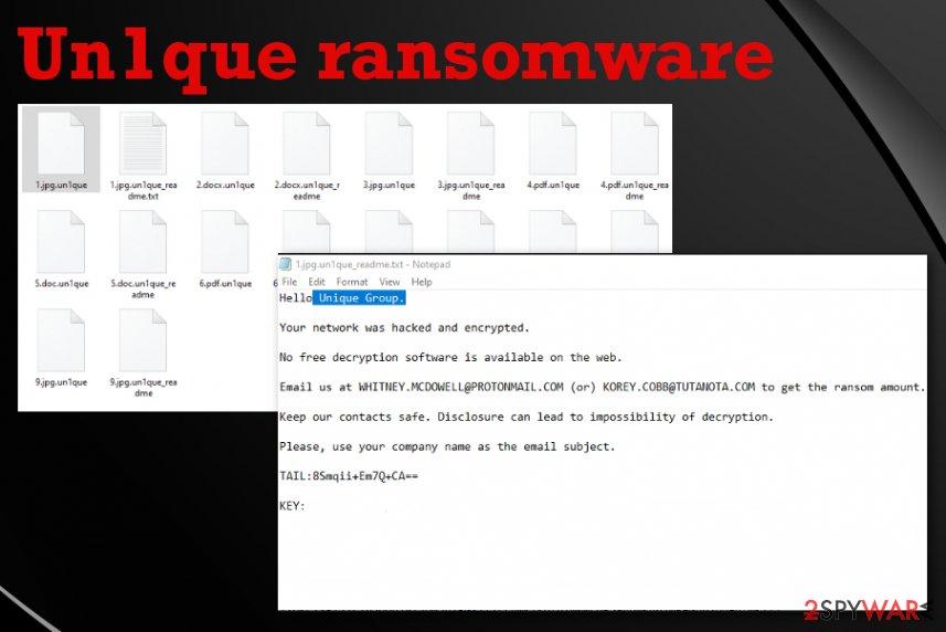 Un1que ransomware
