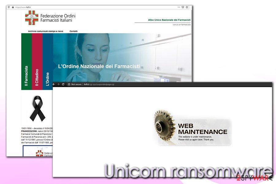 Unicorn ransomware coronavirus phishing