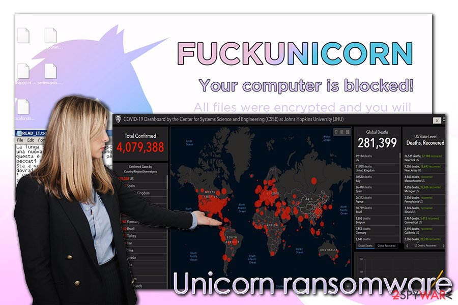 Unicorn ransomware virus